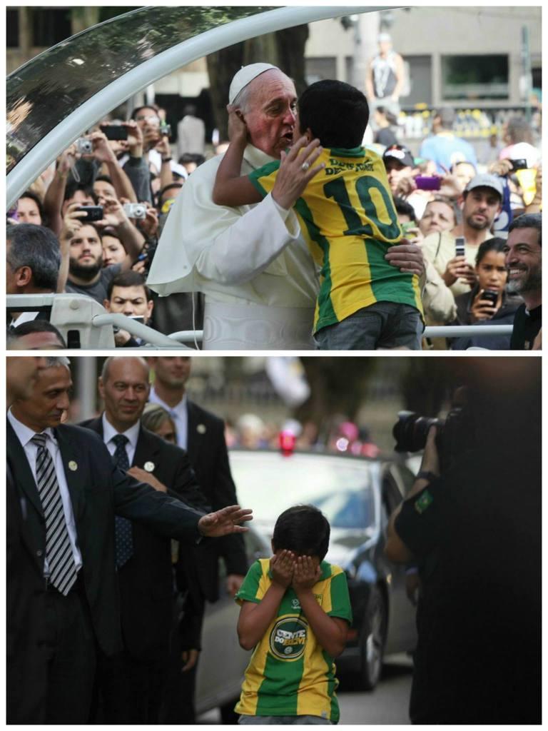 El llanto del Papa al recibir el abrazo de un niño